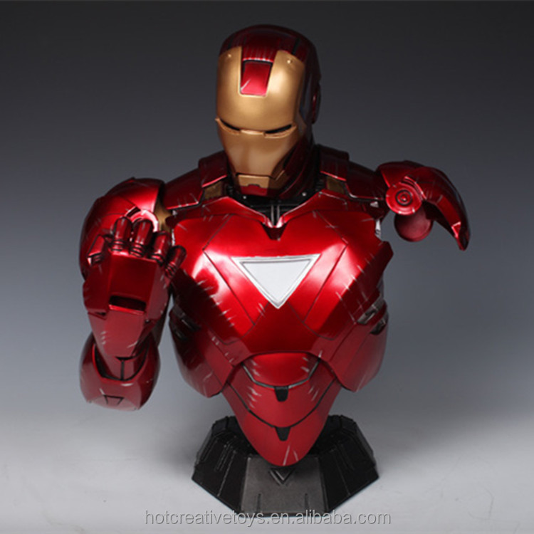 SS Resin Polyresin Iron Man 1:2 scale MK6 Bust Statue Sculpture Model