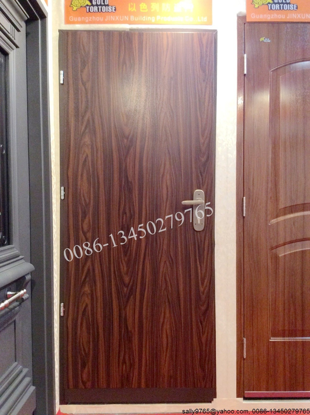 JINXUN 3ft residential israel security door with vinyl finish
