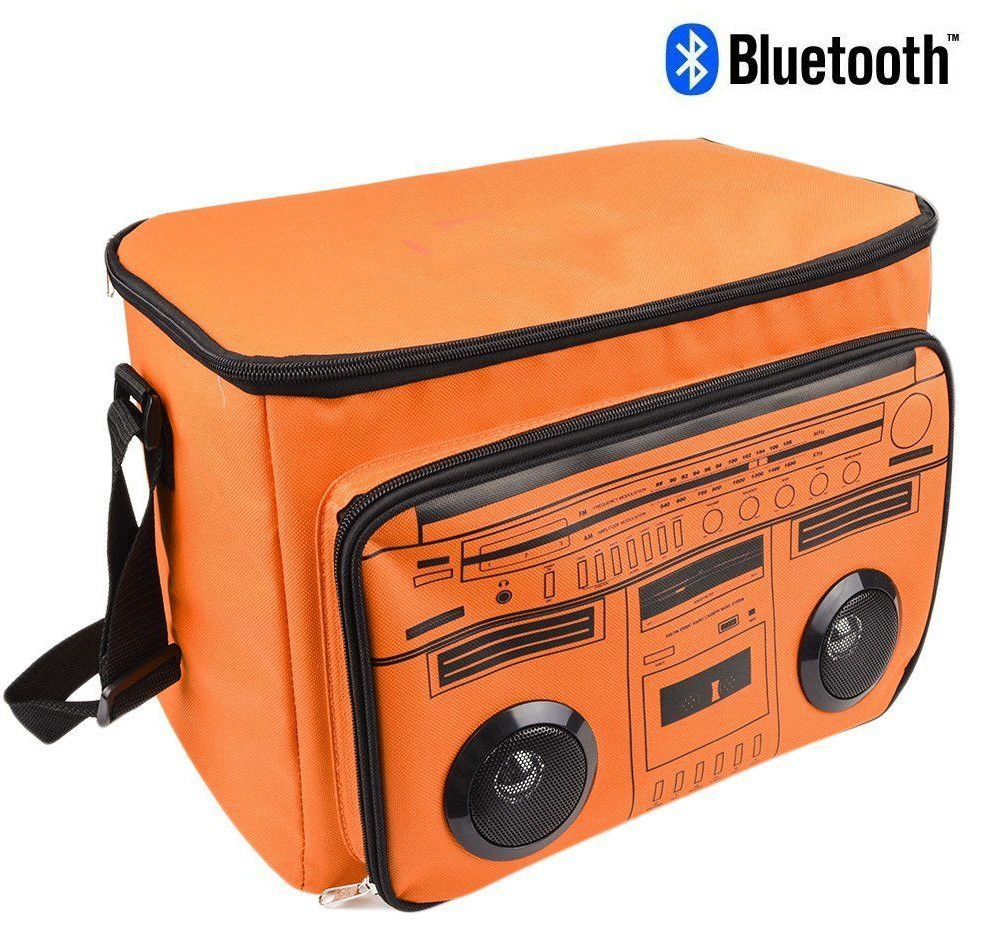 Outdoor Insulated Bluetooth Cooler Bag With MP3 Wireless Bluetooth Speaker