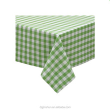 Cheap custom plastic printed tablecloth Plastic Lined Pe Tablecloth/Table Cover