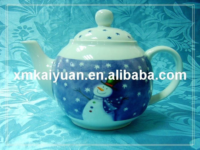 Christmas ceramic teapot