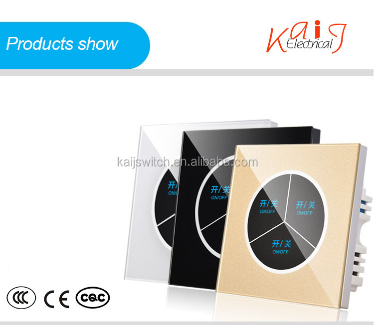 High Quality 3 gang smart glass screen touch switch