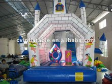 hot sale inflatable fairy cartoon castle bouncer for kids/jumping trampoline with pop-up