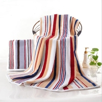 32s/2 100% cotton 70x140cm & 90x180cm rainbow color bath towel