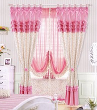 Living Room Decoration 100% Polyester Machine Embroidery Curtain