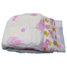 Cute PE Backsheet PP Tapes Disposable Soft Baby Diapers