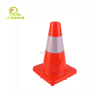 "30cm 12"" inches PVC black traffic road safety cone"