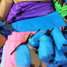 SPLH-002 210T ripstop nylon air bag lounger outdoor high quality sleeping bag camping with CE certificate inflatable air sofa
