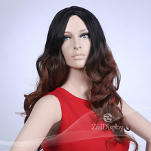 ZielDisplay Supply Loose Curl Synthetic Wigs