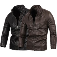 Fashion New Style Motorcycle Leather Jacket Men M/L/XL/2XL