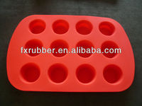 China hot sales fresh design silicone 12 hole silicone cake mould