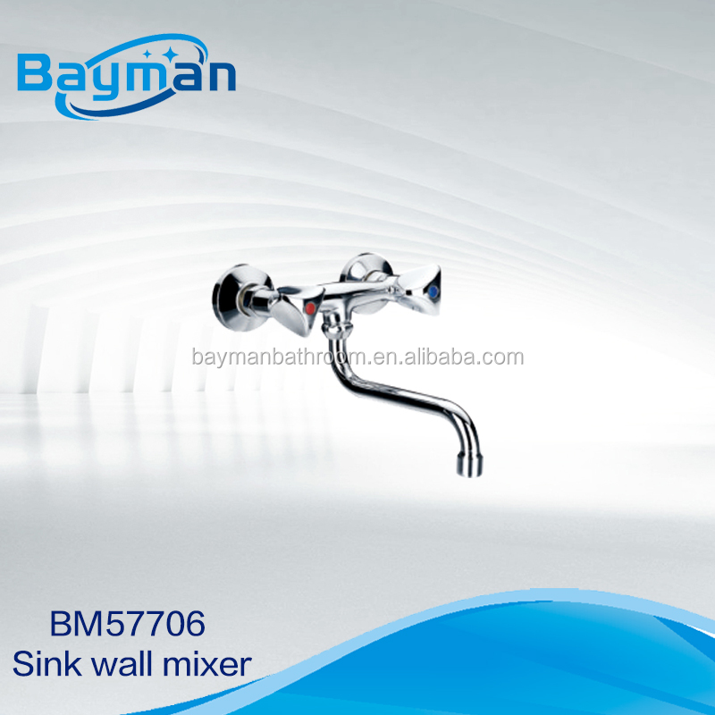 Double Handle Wall Hung best Kitchen Faucet (BM57706)