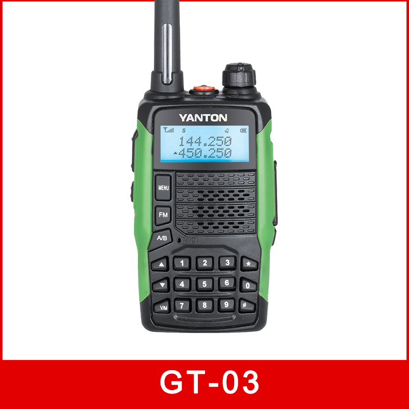 100m hf handy analog walkie talkie GT-03 dual display YANTON