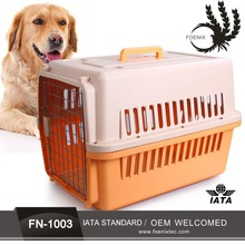 IATA standard colorful PP American style flight cage transport pet cage