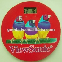 new products for 2014 popular cheap beautiful promotional clock fridge magnet/clock sticker/paper clock sticker