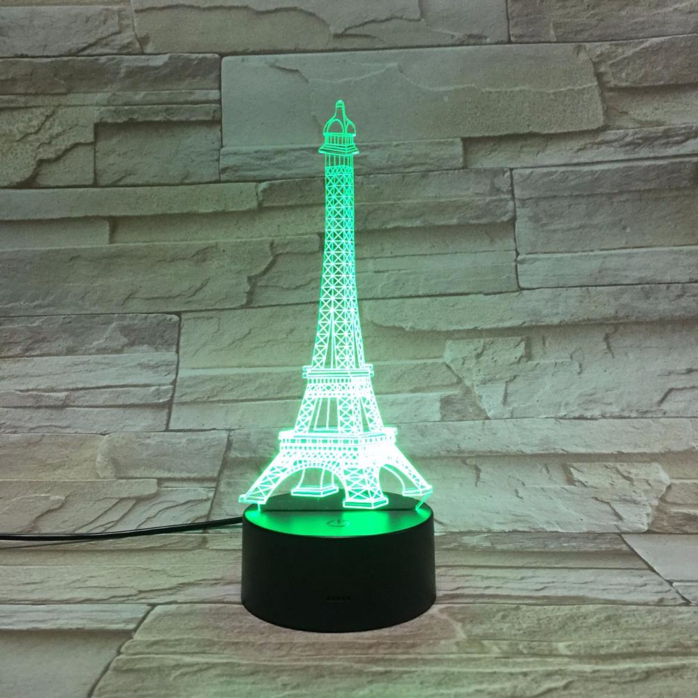 3d st r oscopique visuel acrylique mini tour eiffel led - Lampe tour eiffel ...
