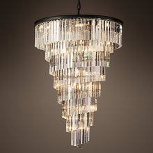 Vintage Interior Decor Luxury Hotel Lobby Crystal Chandelier Large Big Pendant Hanging Lamp Light Lighting CZ2568/28