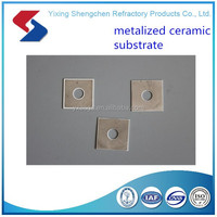 Metallized ceramic /alumina substrate for electronic equipment (circular hole)