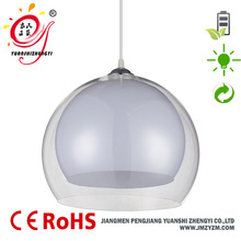 Dining room double color pmma globe garden light changing strip pendant light modern in jiangmen