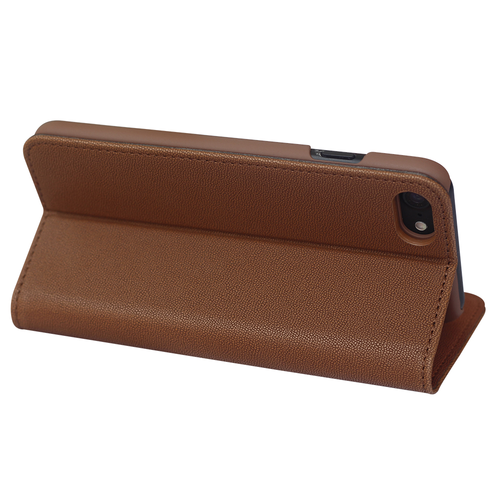 Brown hot sell real pu leather oem case for iphone 7 plus new product