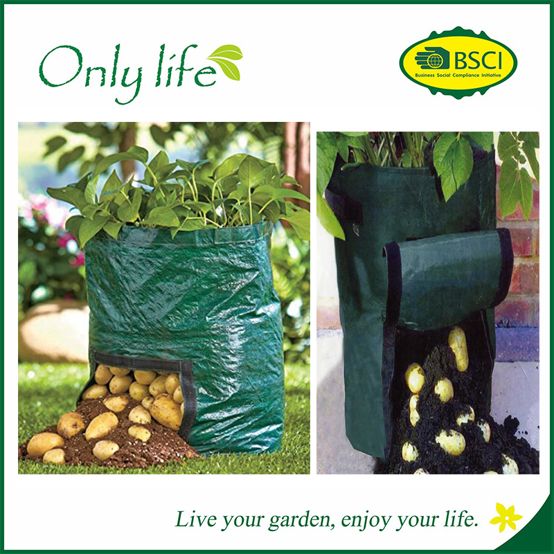 Onlylife High Quality PP/PE Garden Folding Grow Bags Potato Planter Harvest Bag