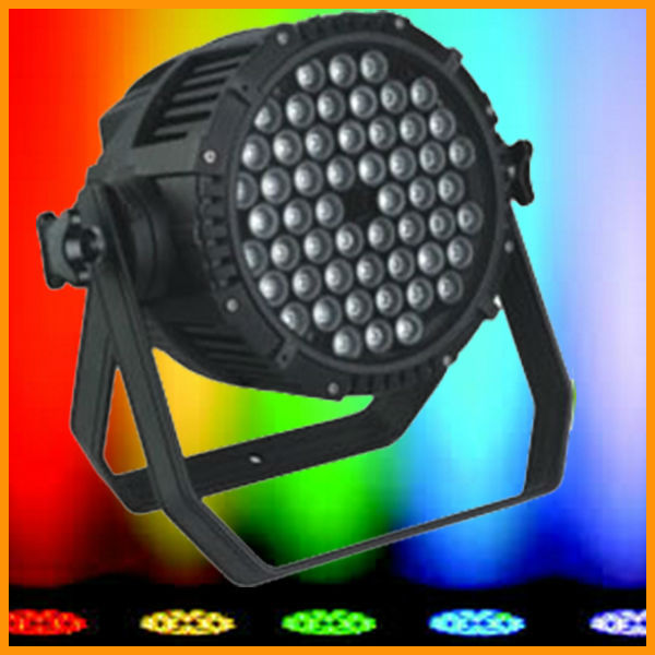 GBR guangzhou 54pcs 3w rgbw waterproof wall washer ip65 powerful led par light