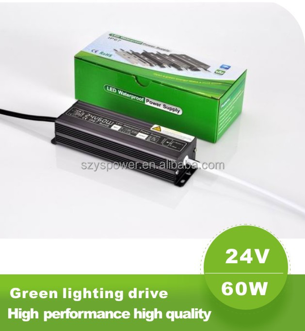 high power led 24v 60w waterproof ip67 constant voltage led ipl power supply