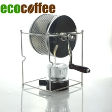 New Arrival 304 Stainless Steel Manual Coffee Roaster 300G Capacity With Alcohol Burner