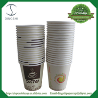 Tea Paper Cup Hot 9oz Vending Machine Coffee Paper Cup with Lids