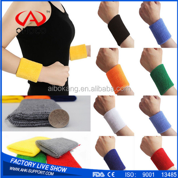 2017 Laptop terry cloth wristband badminton wrist support