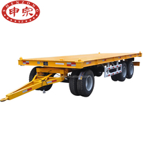 manufacturers sales 20ft to 40ft container transporter flatbed carrying trailer