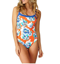 fashional print recreation swimwear women One Piece casual swimsuit swim club Monokini small MOQ