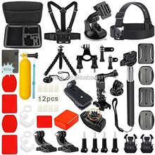 HOT 36 in 1 Family Kit Go Pro Accessories Set GoPro Accessories Pack for Go Pro4 3+ 3 sjcam SJ4000 SJ5000 SJ6000 Xiaomi Yi