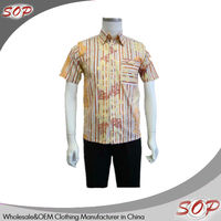 Latest design wholesale mens denim polo shirt printing with short sleeve
