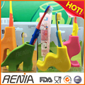 RENJIA custom animal toothbrush stand BPA free silicone toothbrush holder for kids