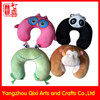 Personalized travel neck pillow custom u shape plush animal neck support travel pillow Chinese funny customized neck pillow