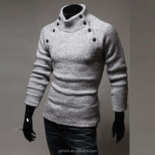 button printed woolen sweater design knit sweater for men