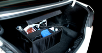 folding car trunk organizer and car document holder