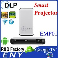 mini Portable android media player, dual band wifi, combination with projector and built in battary