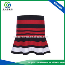 black red color stripes pattern tights fit golf skirt