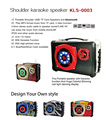 2016 new fashion portable stereo digital subwoofer home karaoke speaker from China factory