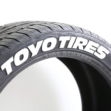 Custom adhesive labels stickers rubber TOYO tyre sticker for tire