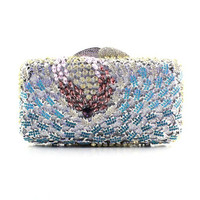 2015 Fashion Exquisite Women Handmade Crystal Clutch Purses and Handbags
