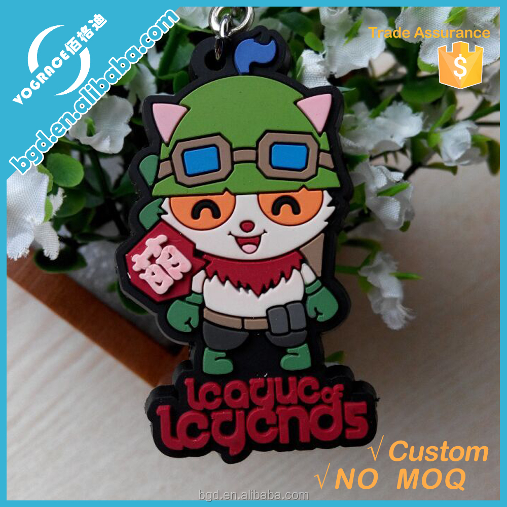 Wholesale alibaba gifts plastic pvc keyrings