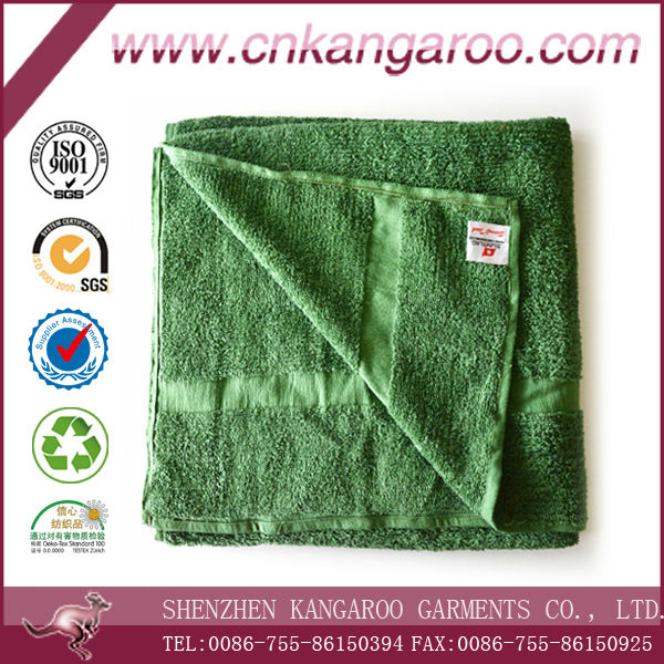 2014 Hot Selling 500gsm Dyed Navy Blue Olive Green Soft Wholesale Military Bath Towel 100% Cotton