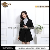 Ladies Short Winter Cashmere Wool Coat With Waistband