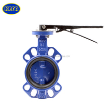 KEFA stainless steel soft seal wafer 6 inch butterfly valve handles