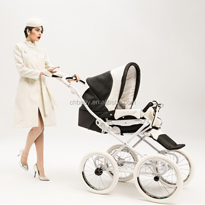 luxury high landscape baby stroller with carrycot/customized baby pushchair with comfortable cover/ customize brand new stroller