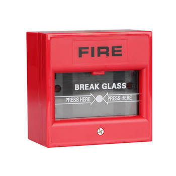 Conventional Fire Alarm button break glass and warning manual call point fire alarm button