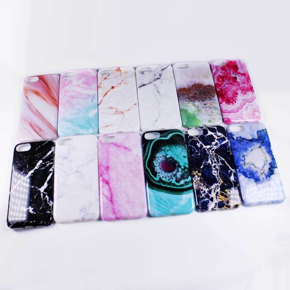 Emeralds Stone crystal Marble Rock Shale Grains design flexible soft tpu silicone phone back case cover for iphone 7 iphone7